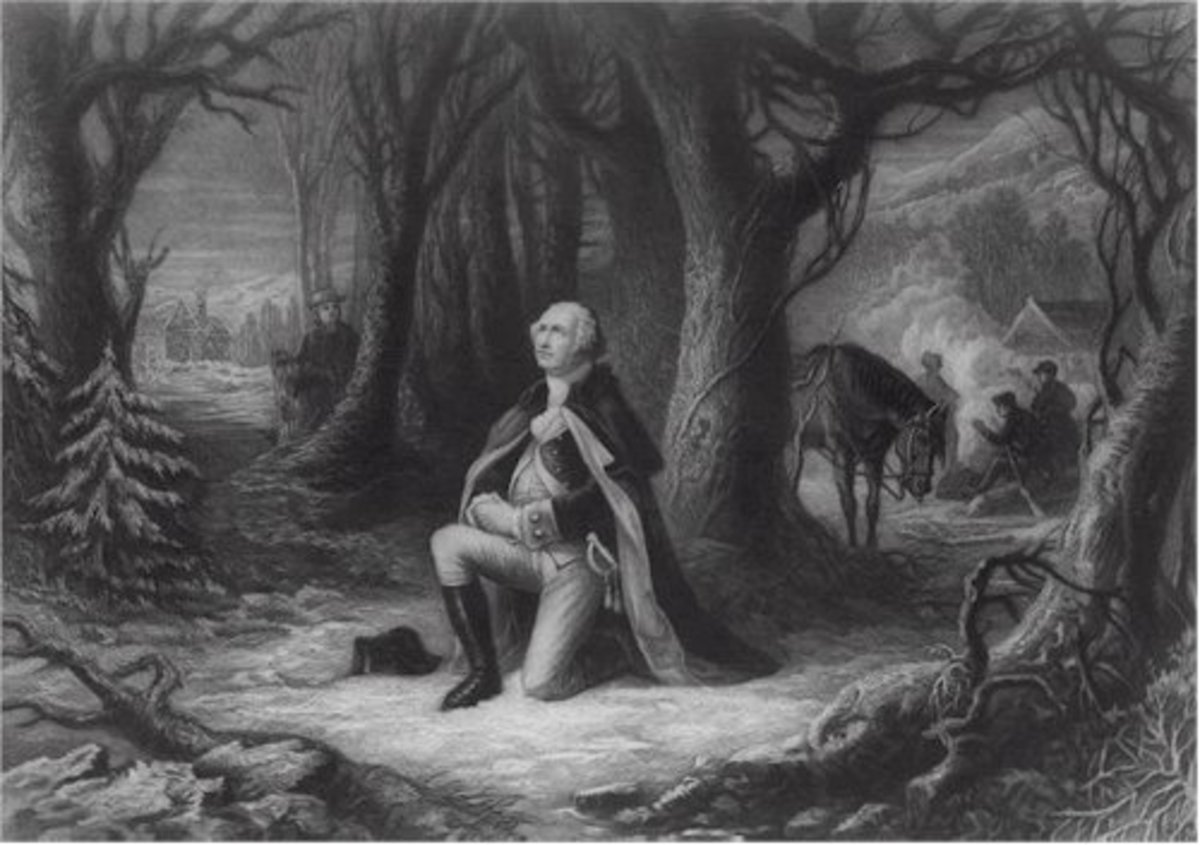 Depictions such as this one have been highly criticized as being inauthentic. However, there are several historical accounts of people observing Washington in prayer. Such accounts strongly challenge the claim that Washington was a deist.
