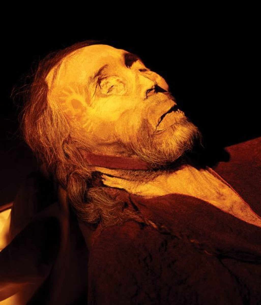 He looks like he is sleeping, but he is over 4,000 years old!