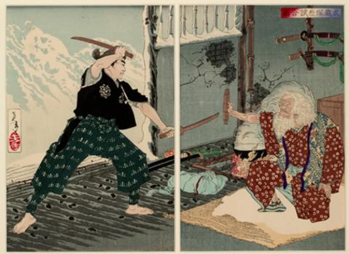 Duel between Miyomoto Musashi and Tsukahara Bokuden