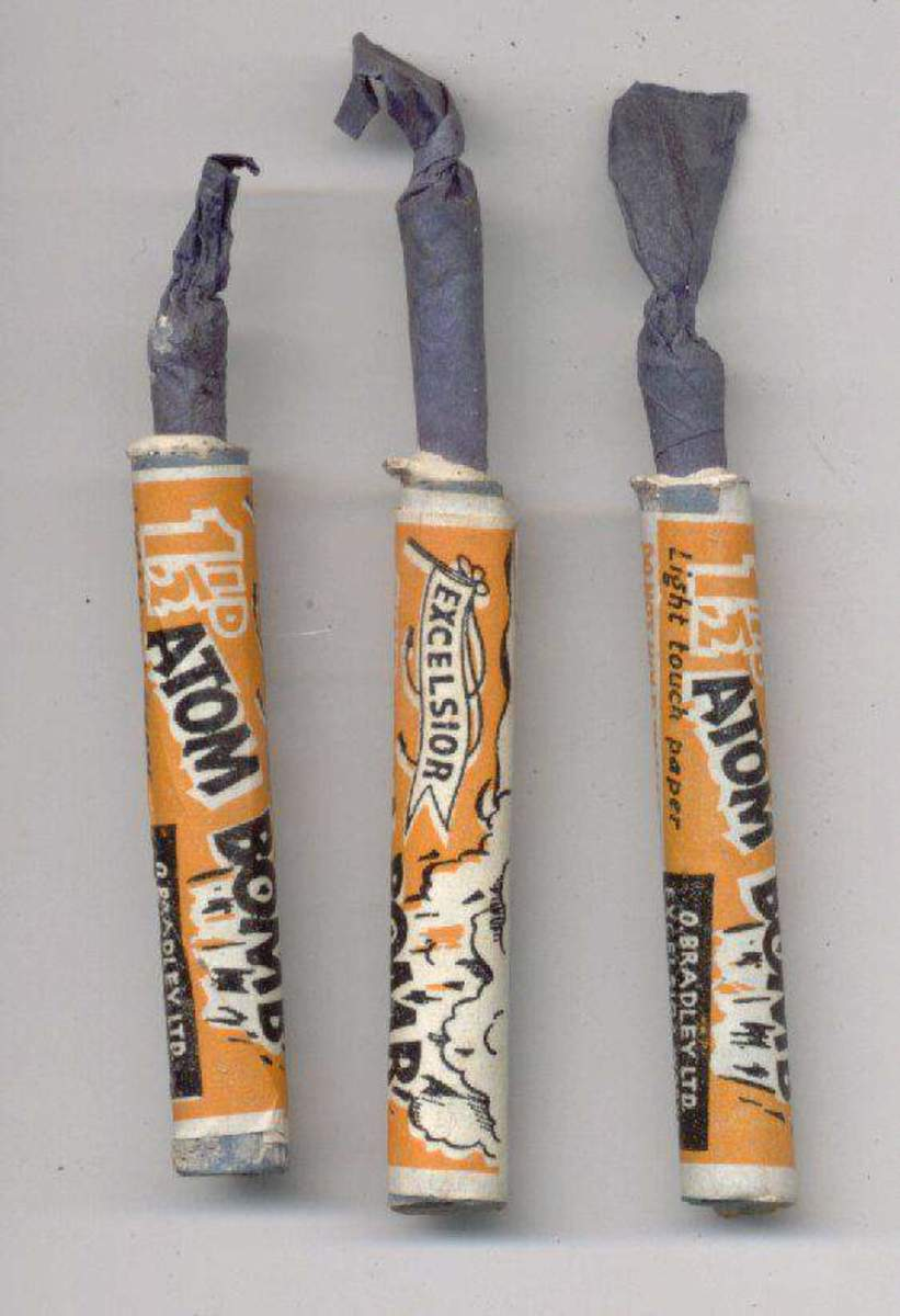 Atom Bomb Bangers normally a banger would be about five or six inches long