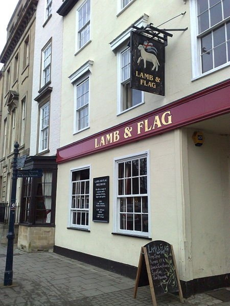 The Lamb and Flag - Pub Sign
