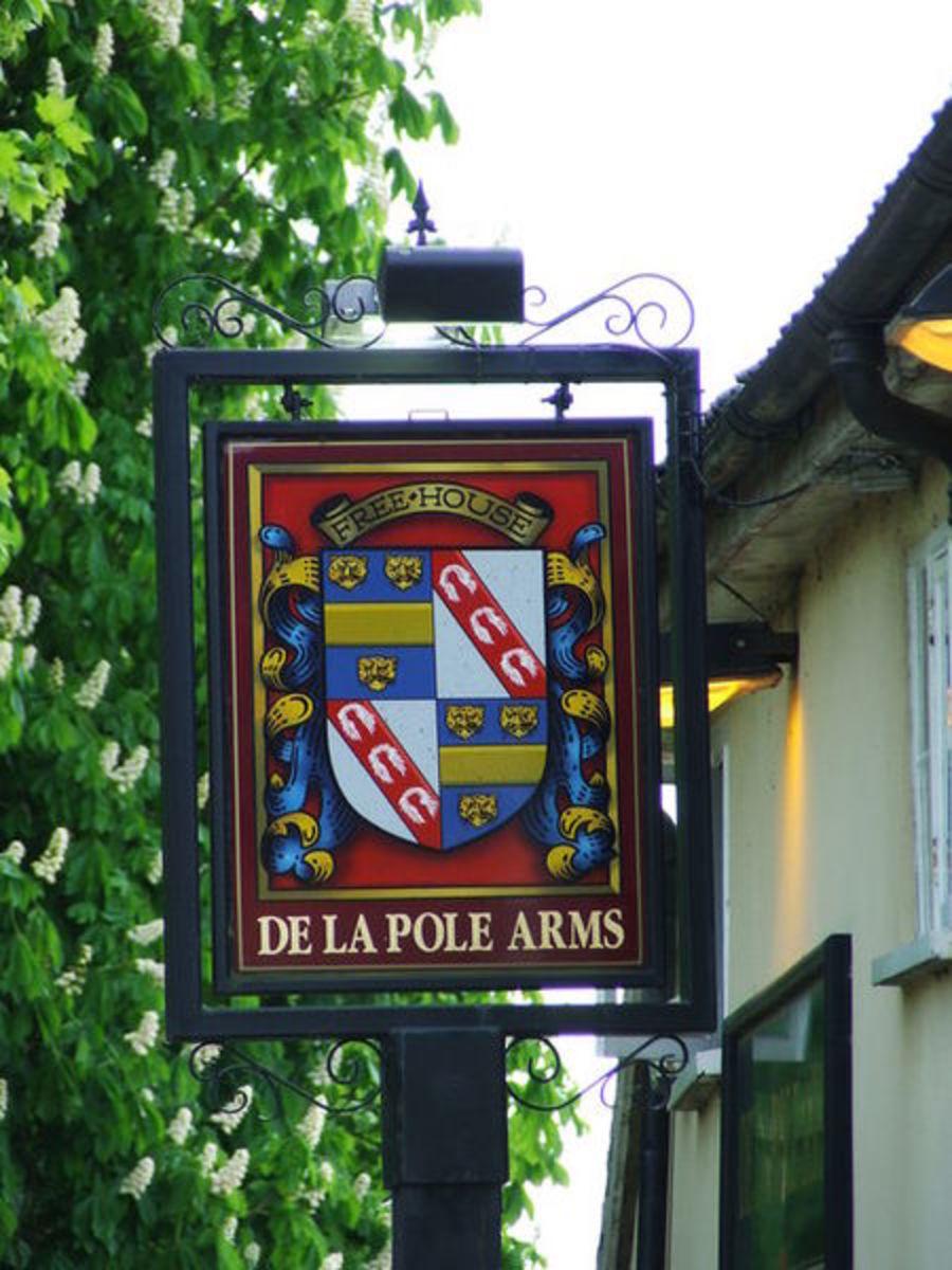 De La Pole Arms Pub Sign