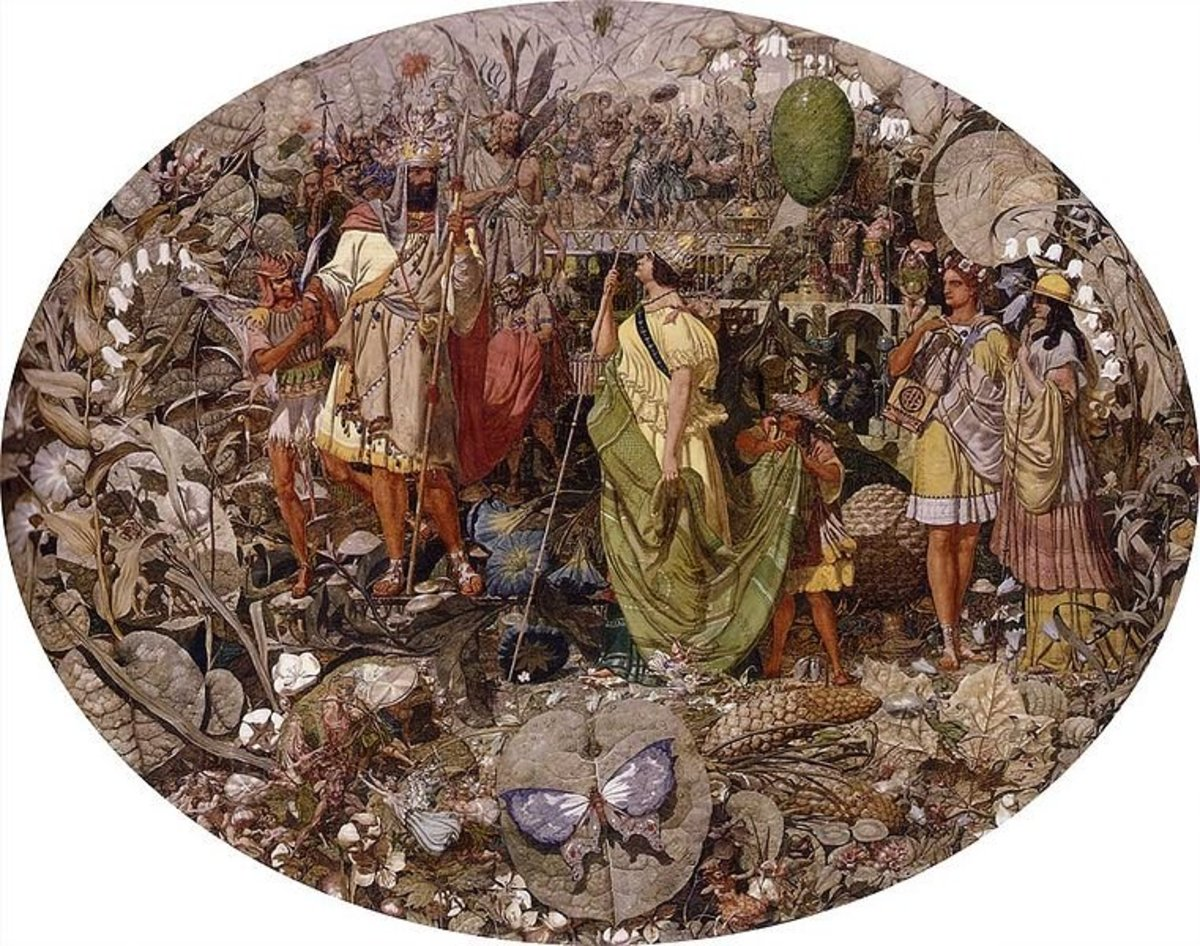 Contradiction: Oberon and Titania by Richard Dadd (1854-58) Scene from Midsummer NIght's Dream, courtesy of www.the-athenaeum.org via Wiki Commons