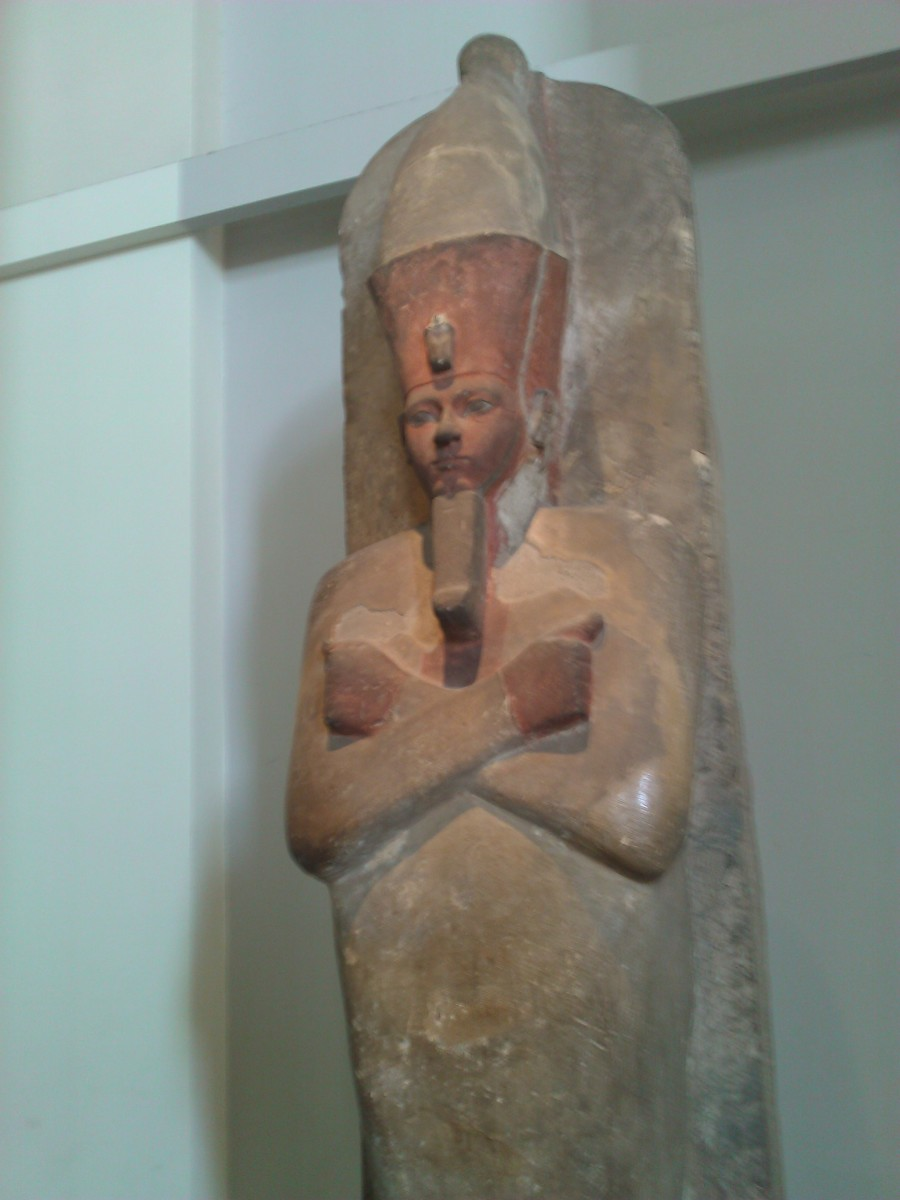 Statue of Amenophis I in the British Museum, London
