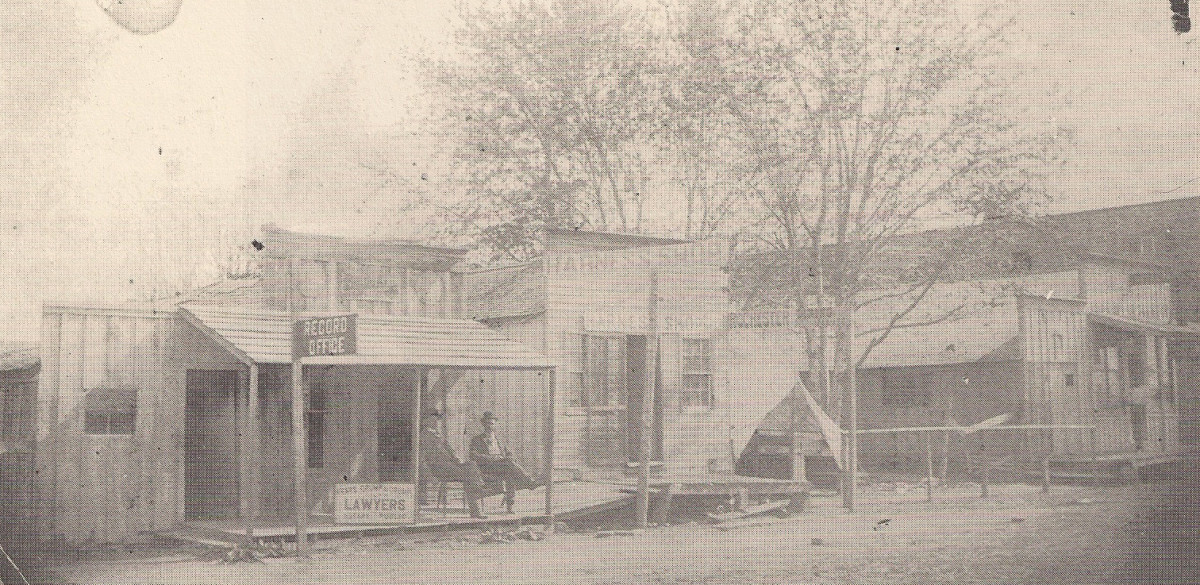Early Okmulgee next to Severs store. (Severs Block)