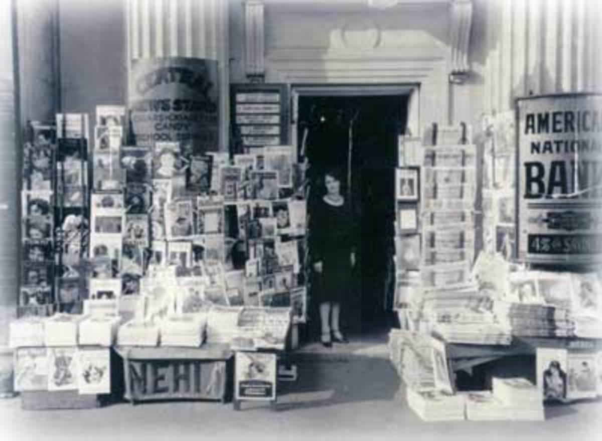 Okmulgee Newsstand 1928.