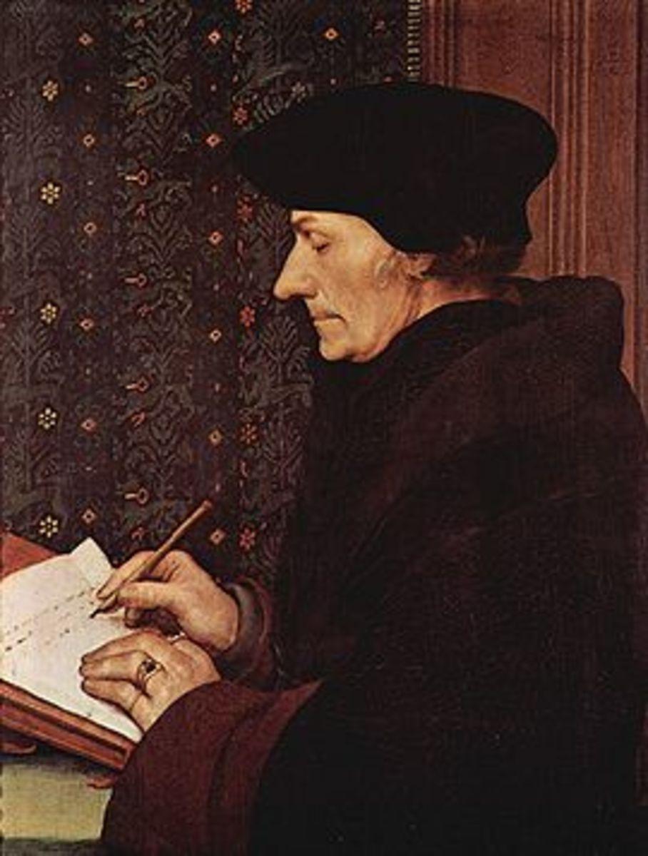 "Erasmus translated the Latin Vulgate into Greek. Luther later used Erasmus's Greek text to translate the German Bible. Erasmus called Luther ""a mighty trumpet of gospel truth."""