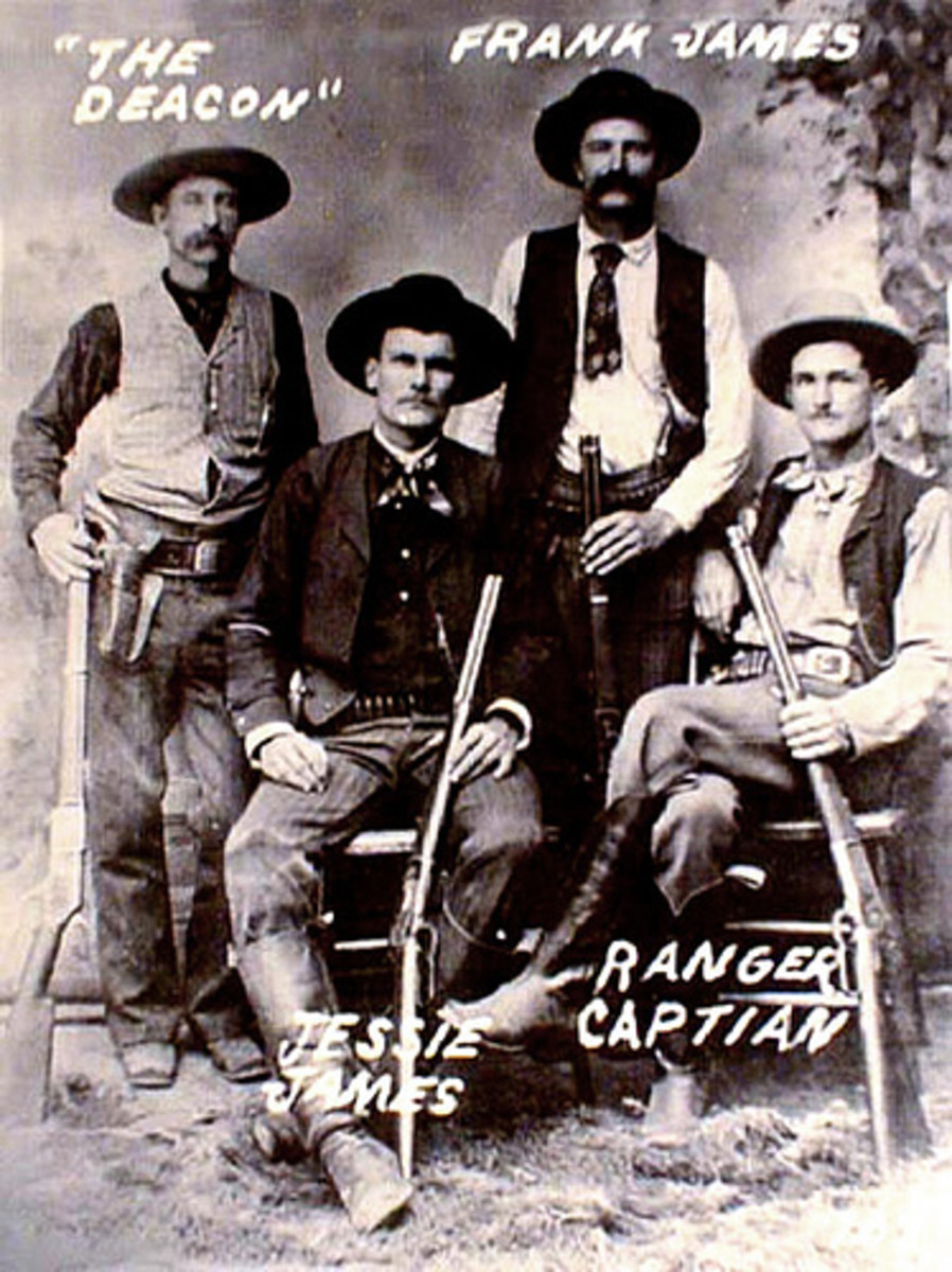 The Outlaws: Legends tell of a hidden treasure stash near Robbers Cave in Oklahoma by the James Gang.