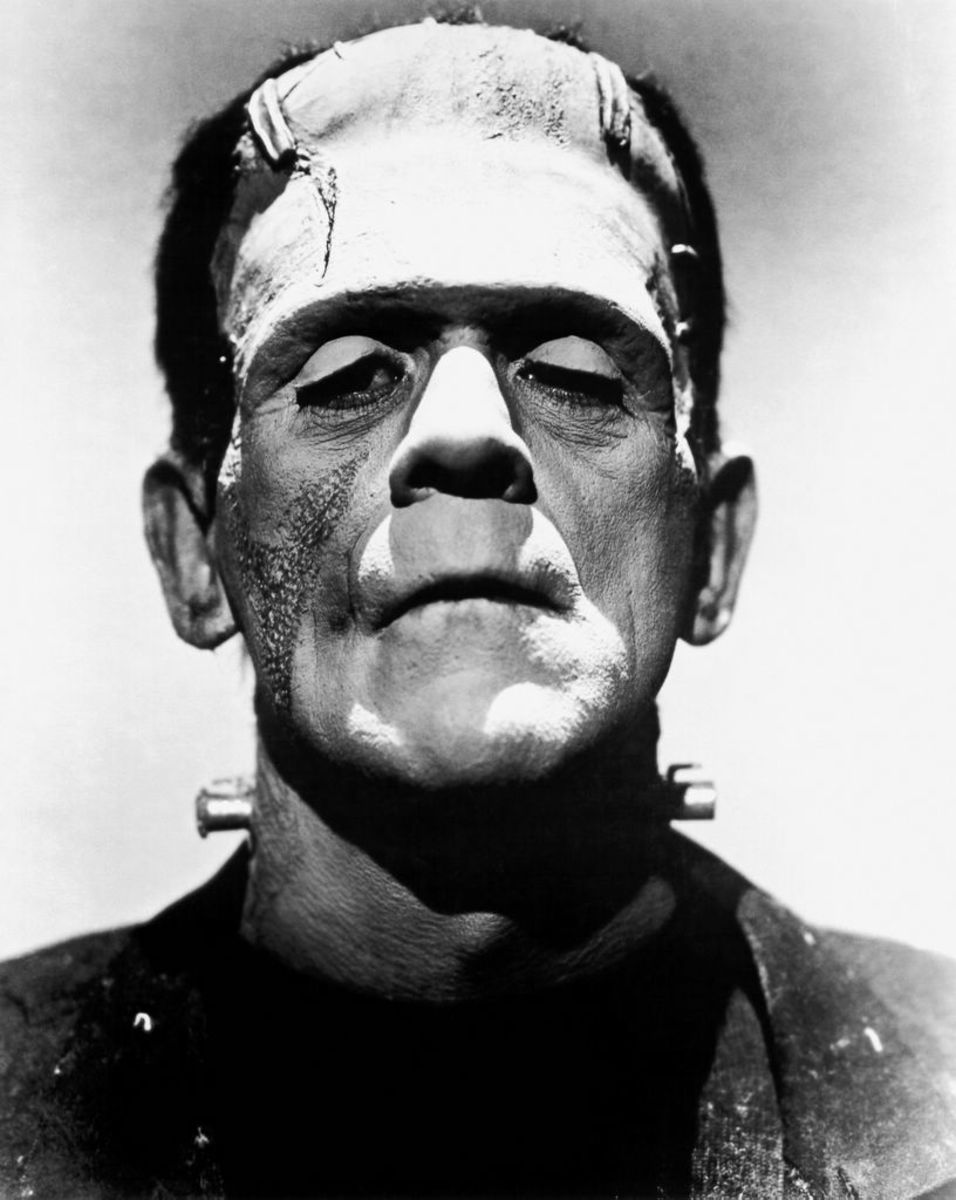 Boris Karloff as Frankenstein's creature.