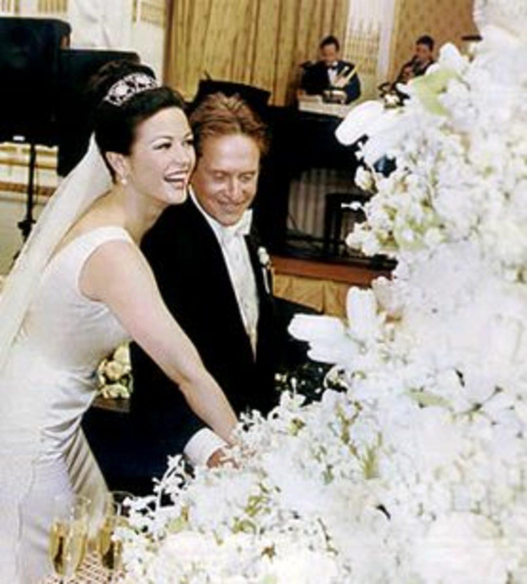 Michael Douglas and Catherine Zeta-Jones Cut Their Sylvia Weinstock Cake