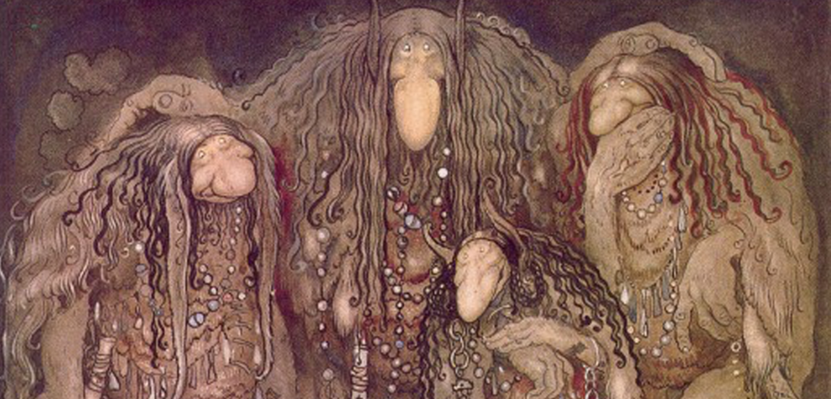 A cropped version of one of John Bauer's famous troll illustrations.