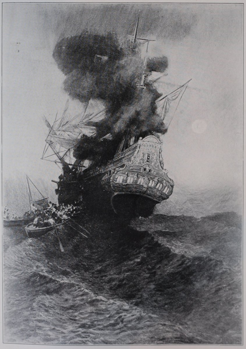Sometimes they would burn a ship after a raid.