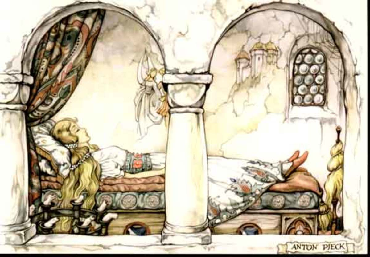 Anton Pieck's sleeping beauty Aurora