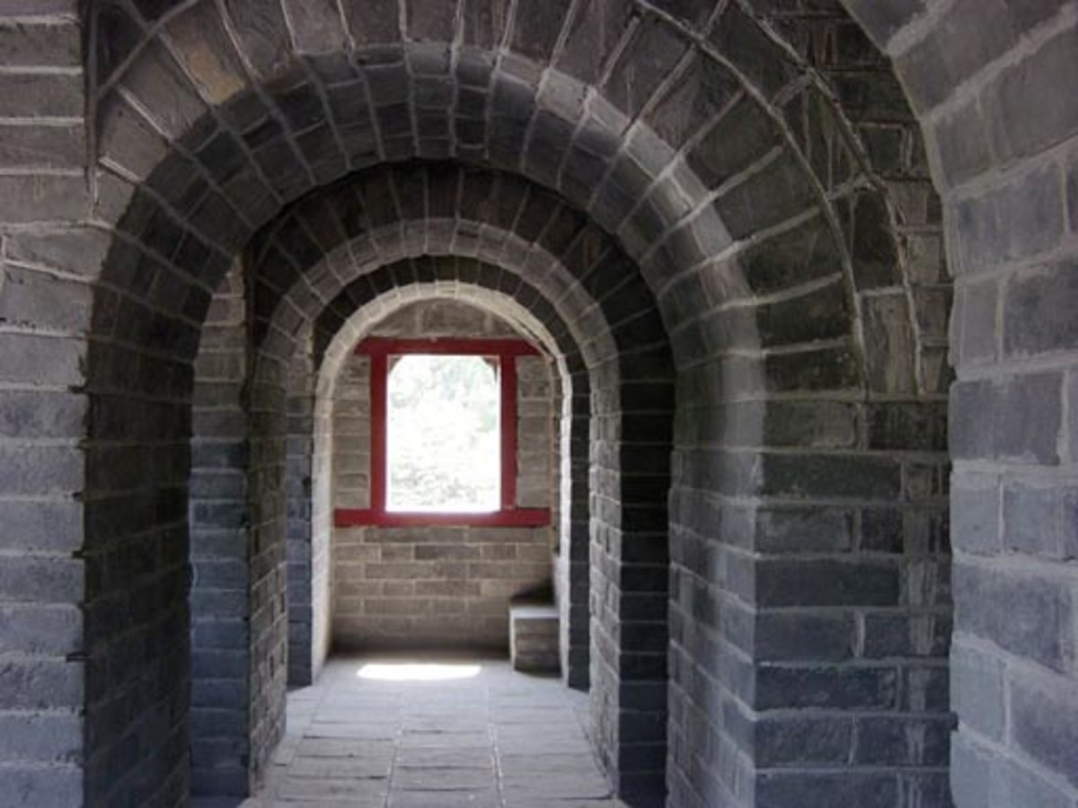 Interior of a watch tower near the great wall.