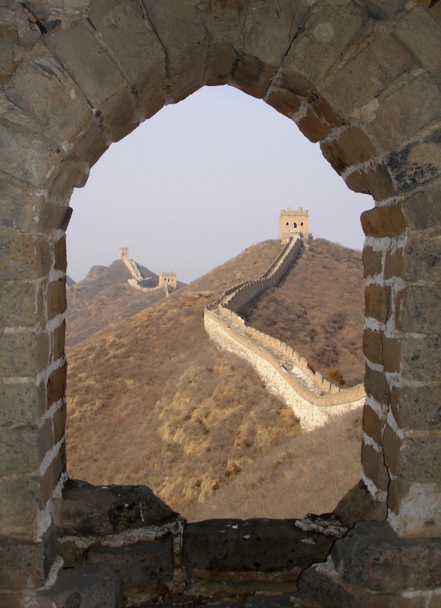 Beautiful view of Great China Wall