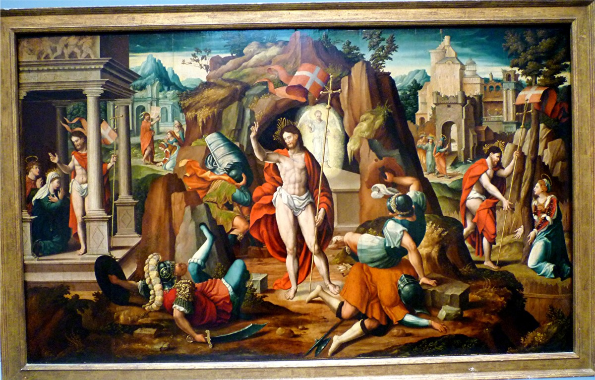 Scenes of the Passion and Resurrection of Christ attributed to Lambert Lombard
