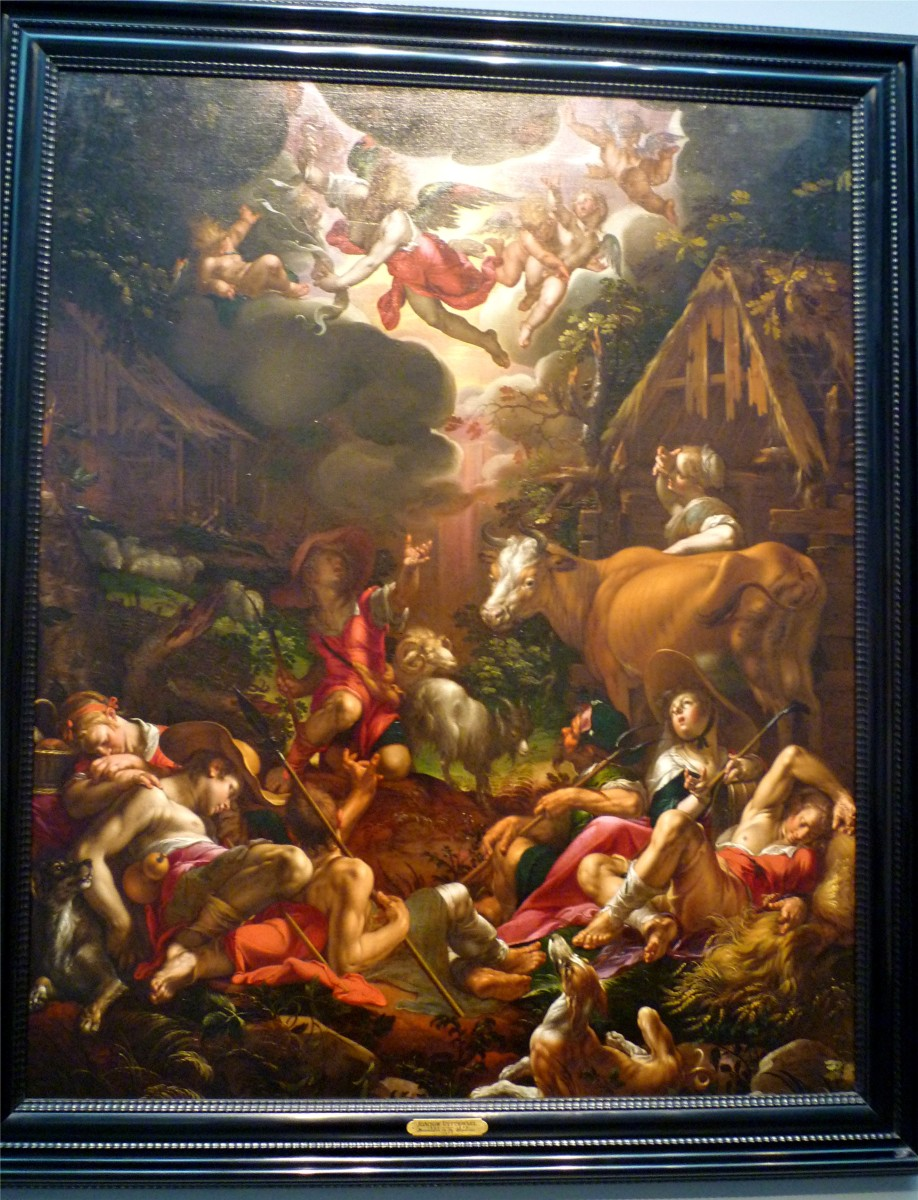 Annunciation to the Shepherds by Joachim Wtewael