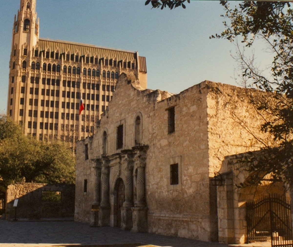 The Alamo, a Texas State Shrine, in downtown San Antonio.