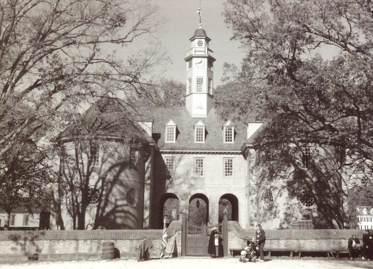 Colonial Legislature (Capitol).  Historic Williamsburg, Virginia.