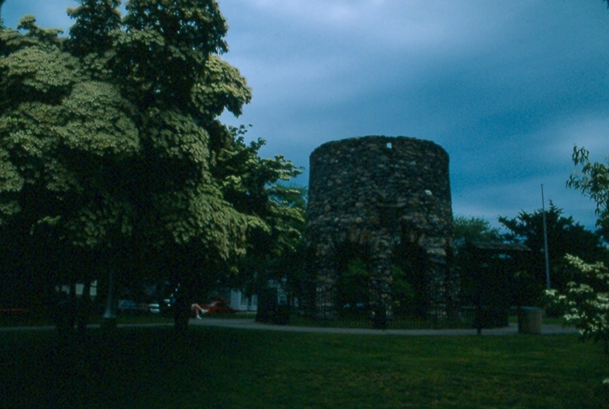 The Mystery Tower in Newport, Rhode island.