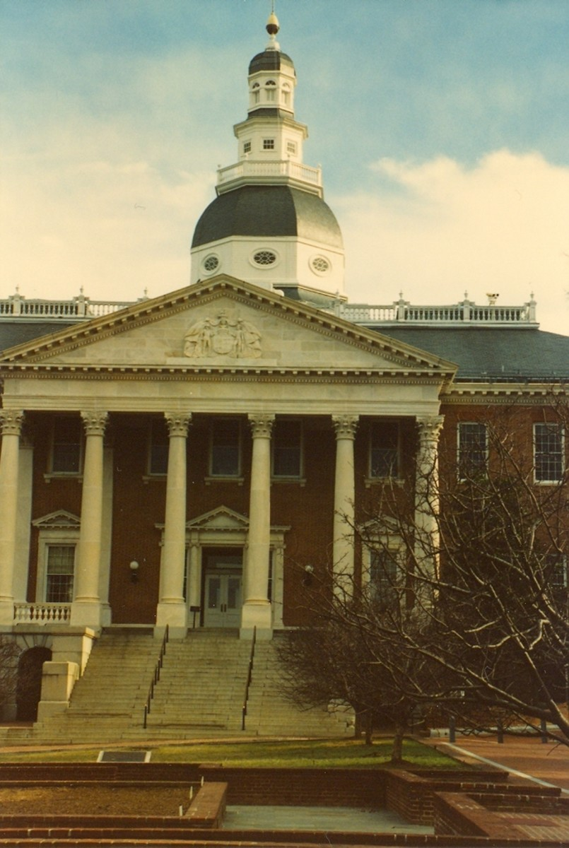 The State House, Annapolis, Maryland, c. 1772.