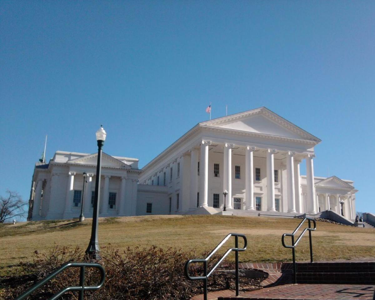 The Virginia State Capitol Building, designed by Thomas Jefferson, in Richmond.