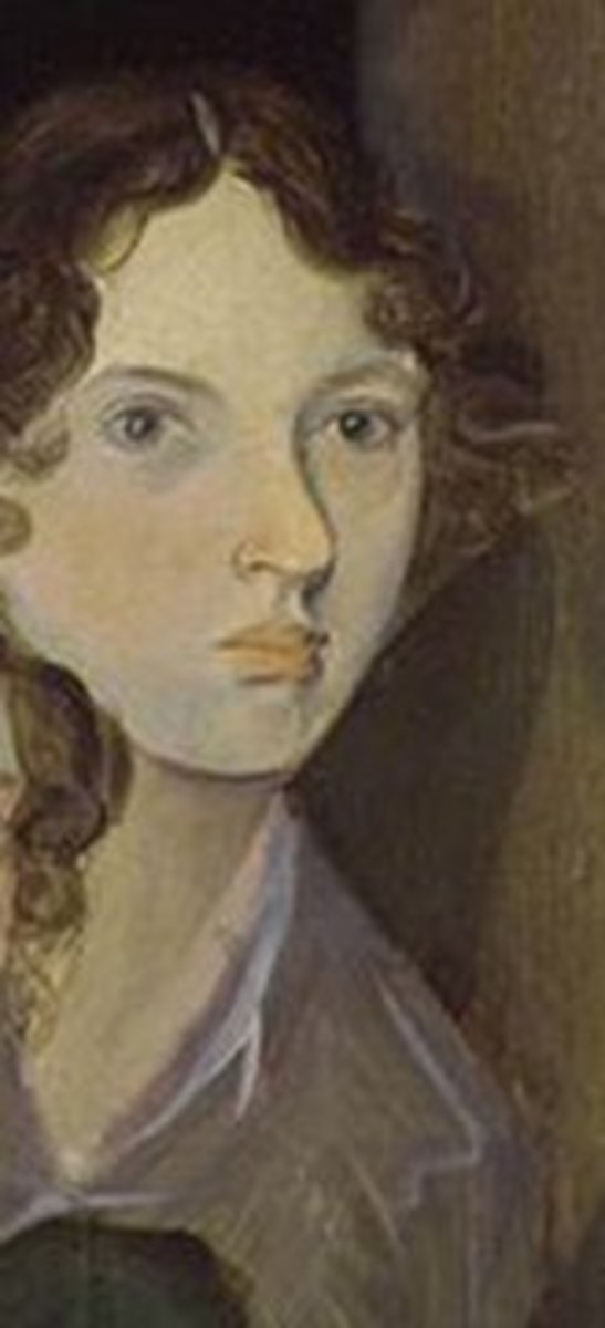 editedand cropped by Dolores Monet,from wikimedia commons from a painting by Branwell Bronte; from photo of the painting by www.