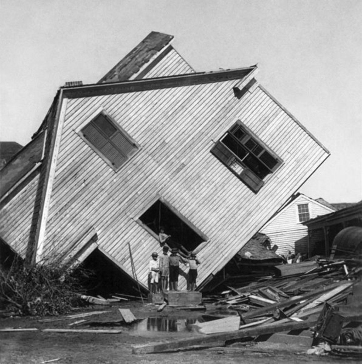 Damage from the 1900 Galveston Hurricane, one of the deadliest hurricanes in history.