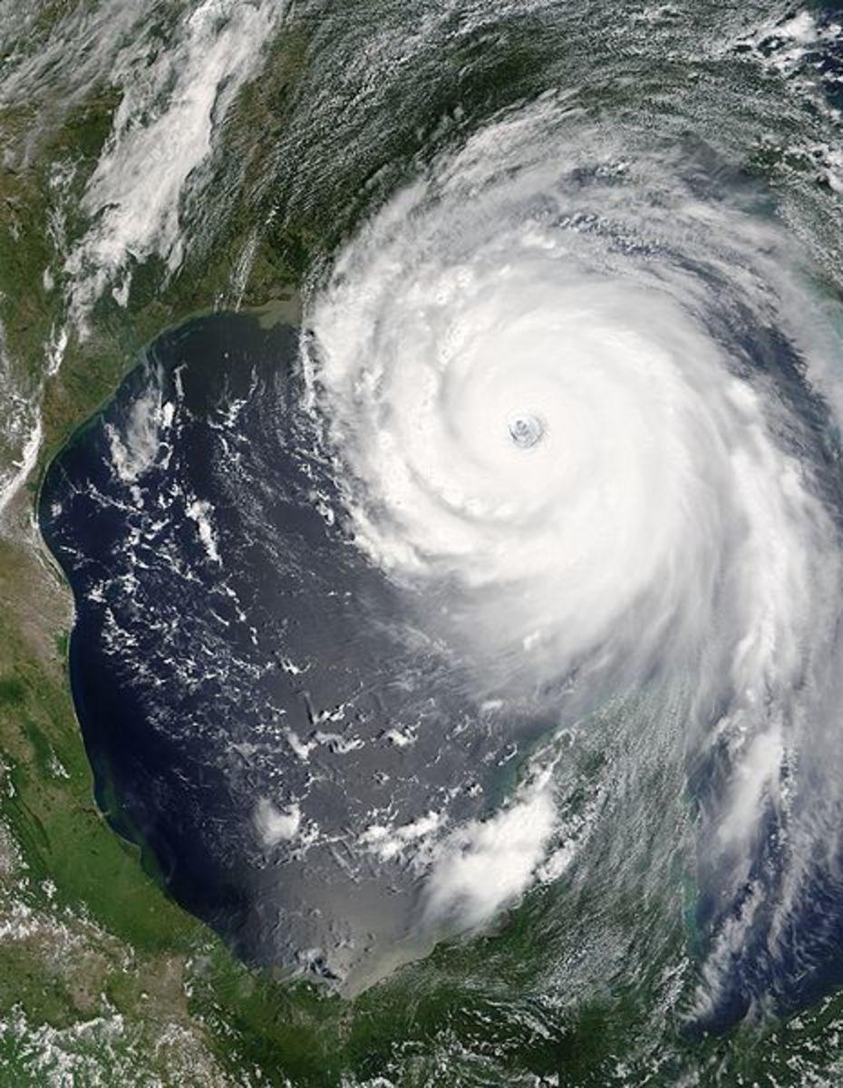 Hurricane Katrina just before making landfall in Louisiana.