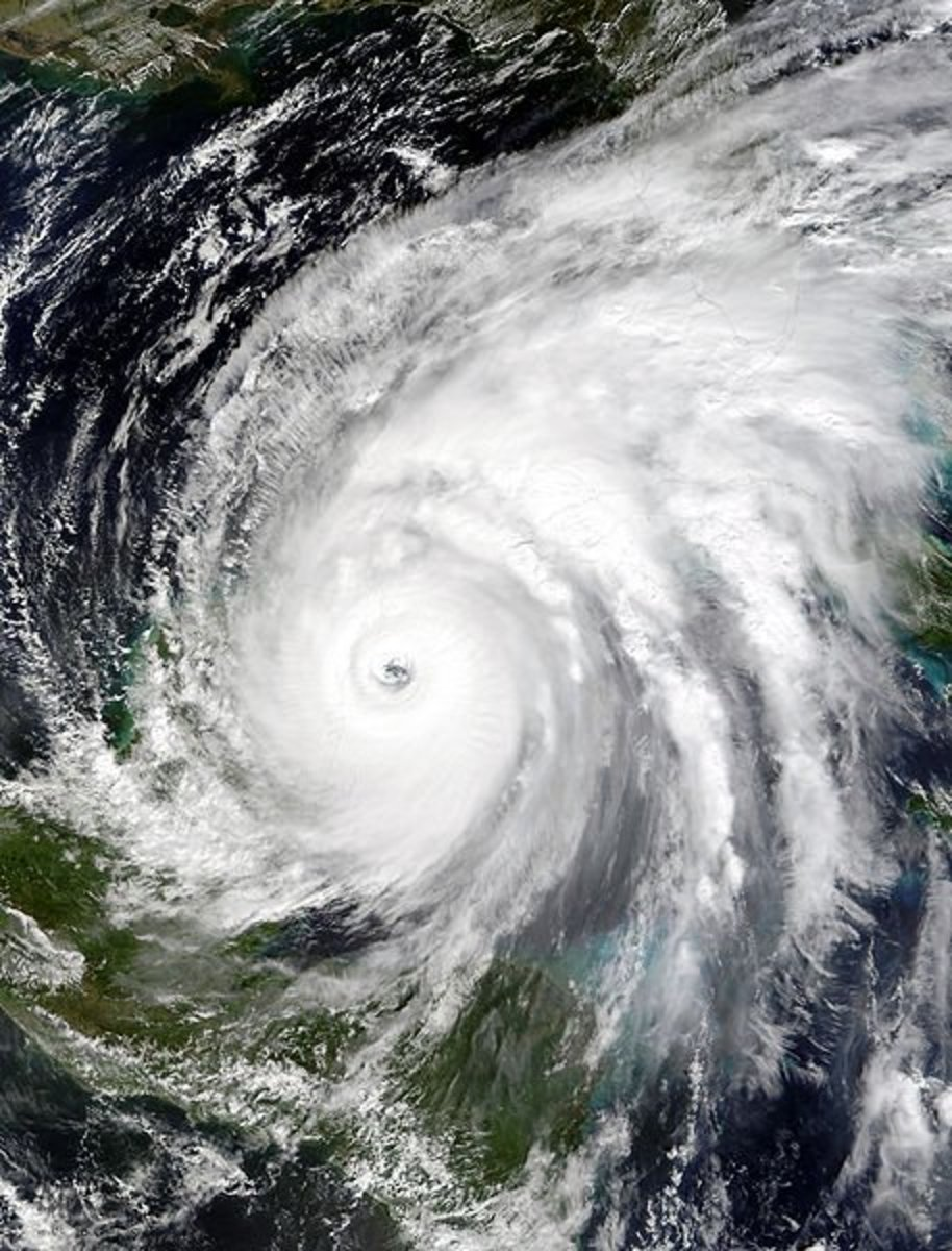 Hurricane Wilma as a Category 4 storm, just before making landfall in Cozumel, Mexioo.