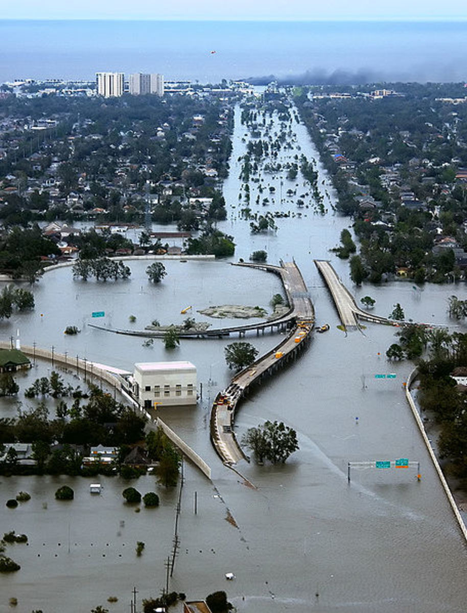 Flooding was the main cause of property damage in New Orleans.