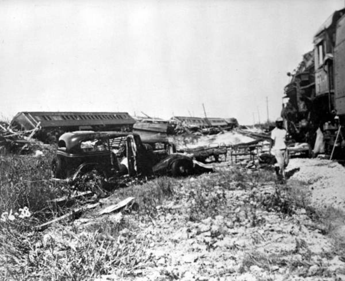 Wreckage in the Florida Keys after the Labor Day Hurricane of 1935 passed through.