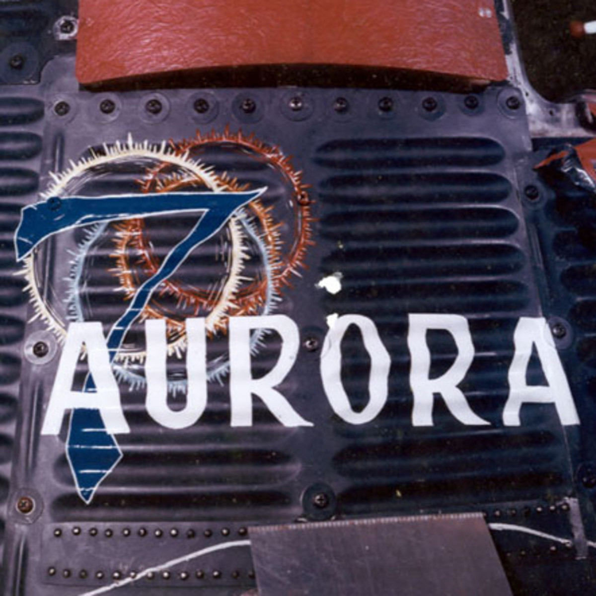 A closeup of the artwork for Scott Carpenter's Aurora 7 capsule. Photo courtesy of NASA.