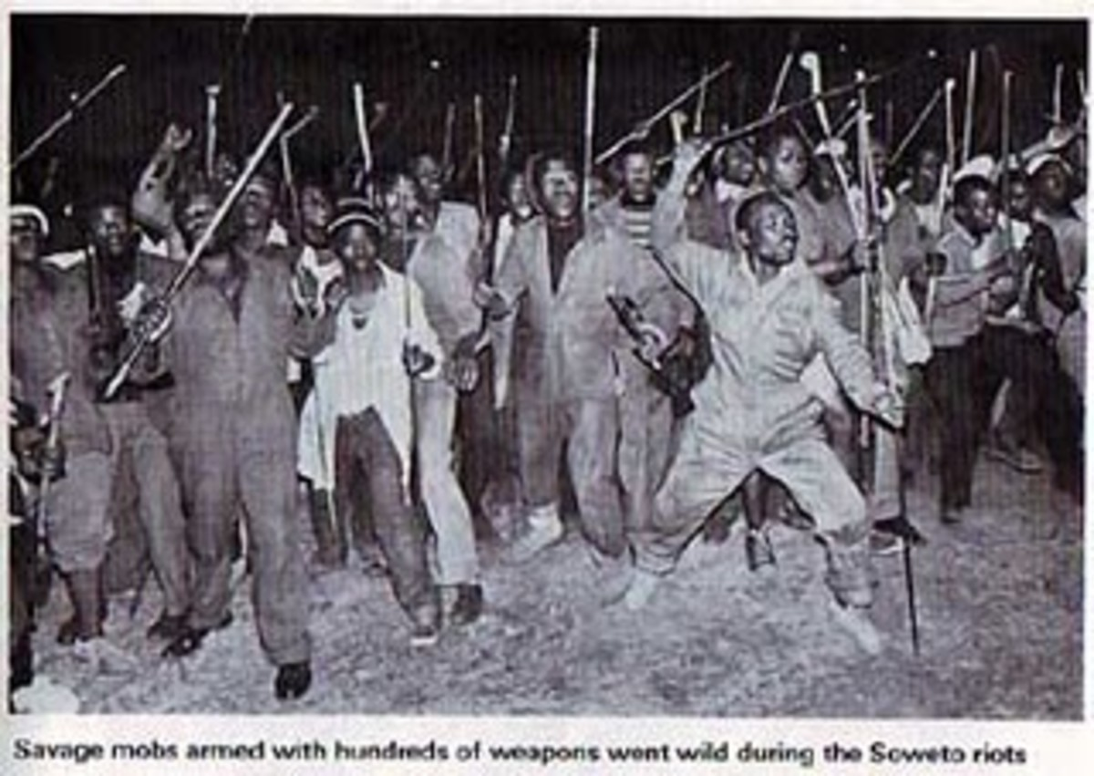 "These ""Savage Mobs with hundreds of weapons"" as quoted by some Apartheid apologist were Zulu Hostel men recruited by the Boer regime to fight the people of Soweto"