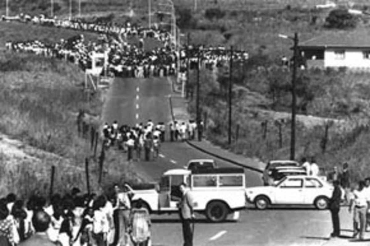 The Youth From Naledi Township, on the Southwestern end of Soweto, collecting others on the march en-route to Orlando Stadium