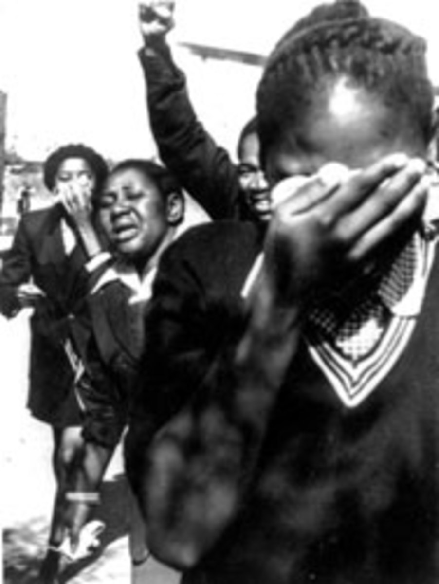 School girls overcome by teargas