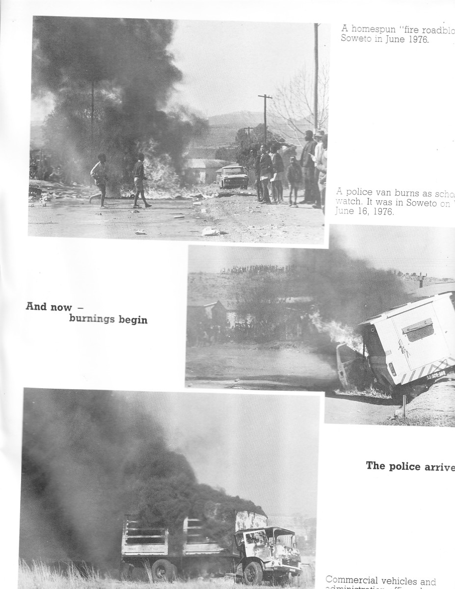 Government vehicles set on Fire on June 18th 1976