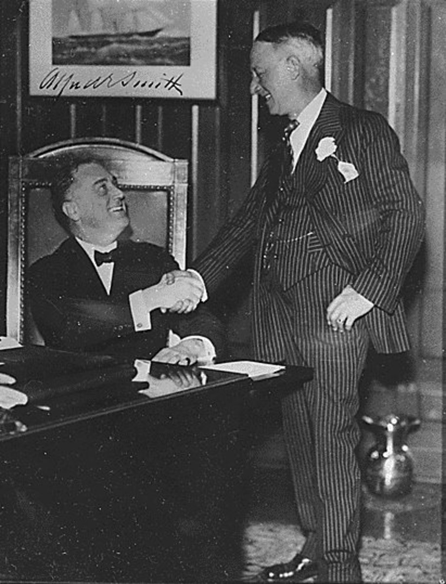 Famous people spit, too. Then Governor of New York, Franklin D. Roosevelt, 1930.