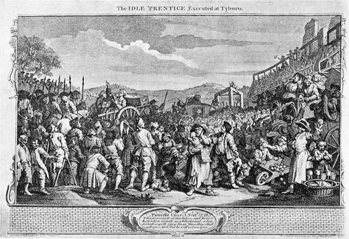 The Idle 'Prentice Executed at Tyburn - William Hogarth 1747