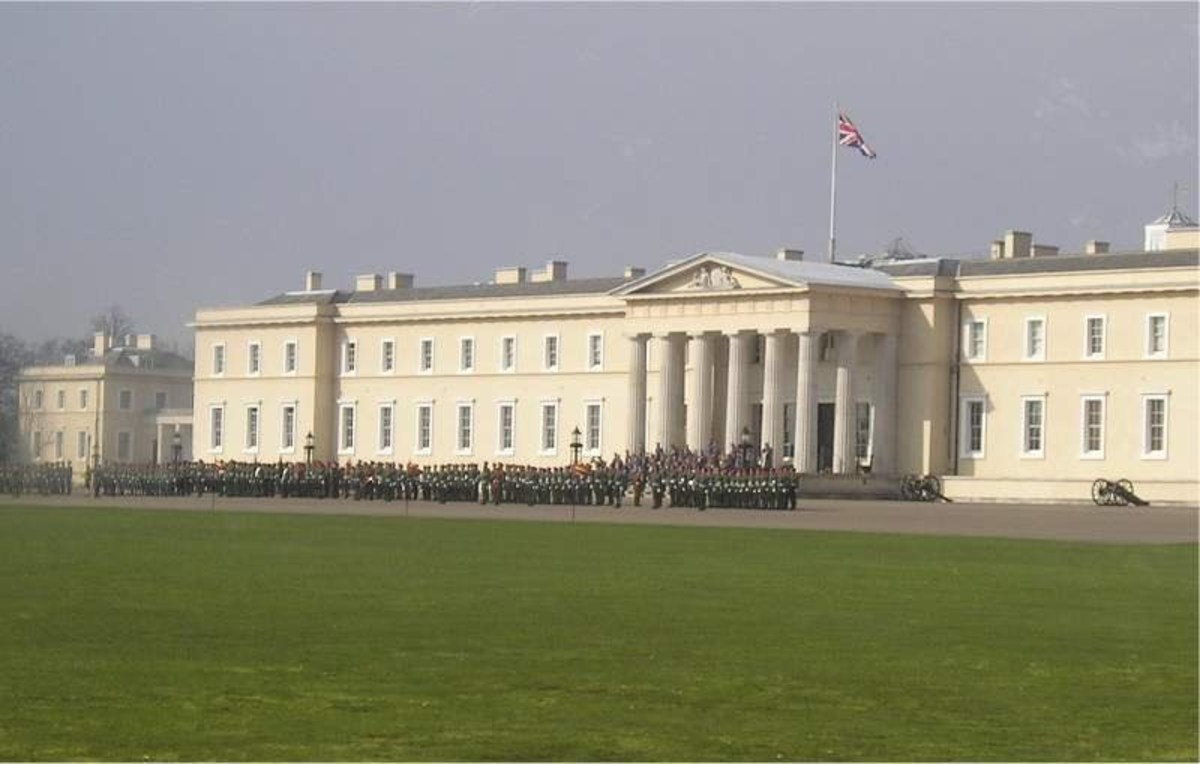 Sandhurst, the famous English military college, where Dyer taught prior to his journalistic career.