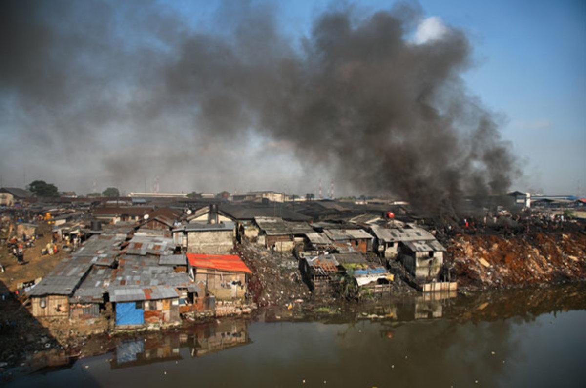 Oil pollution in Nigeria.