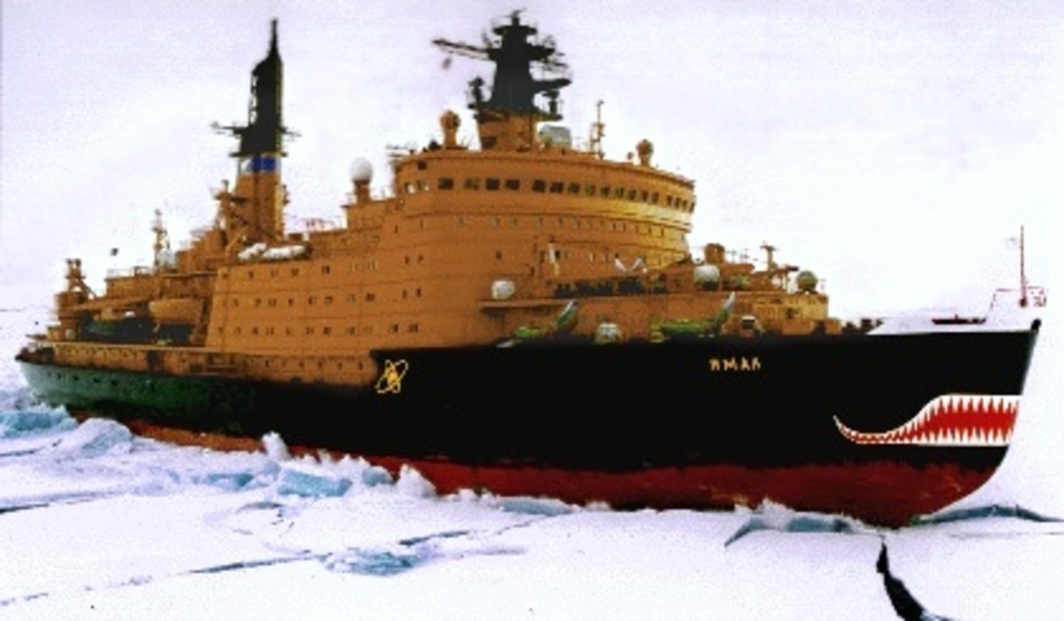 Russian nuclear icebreaker Yamal.  Image courtesy NSF.