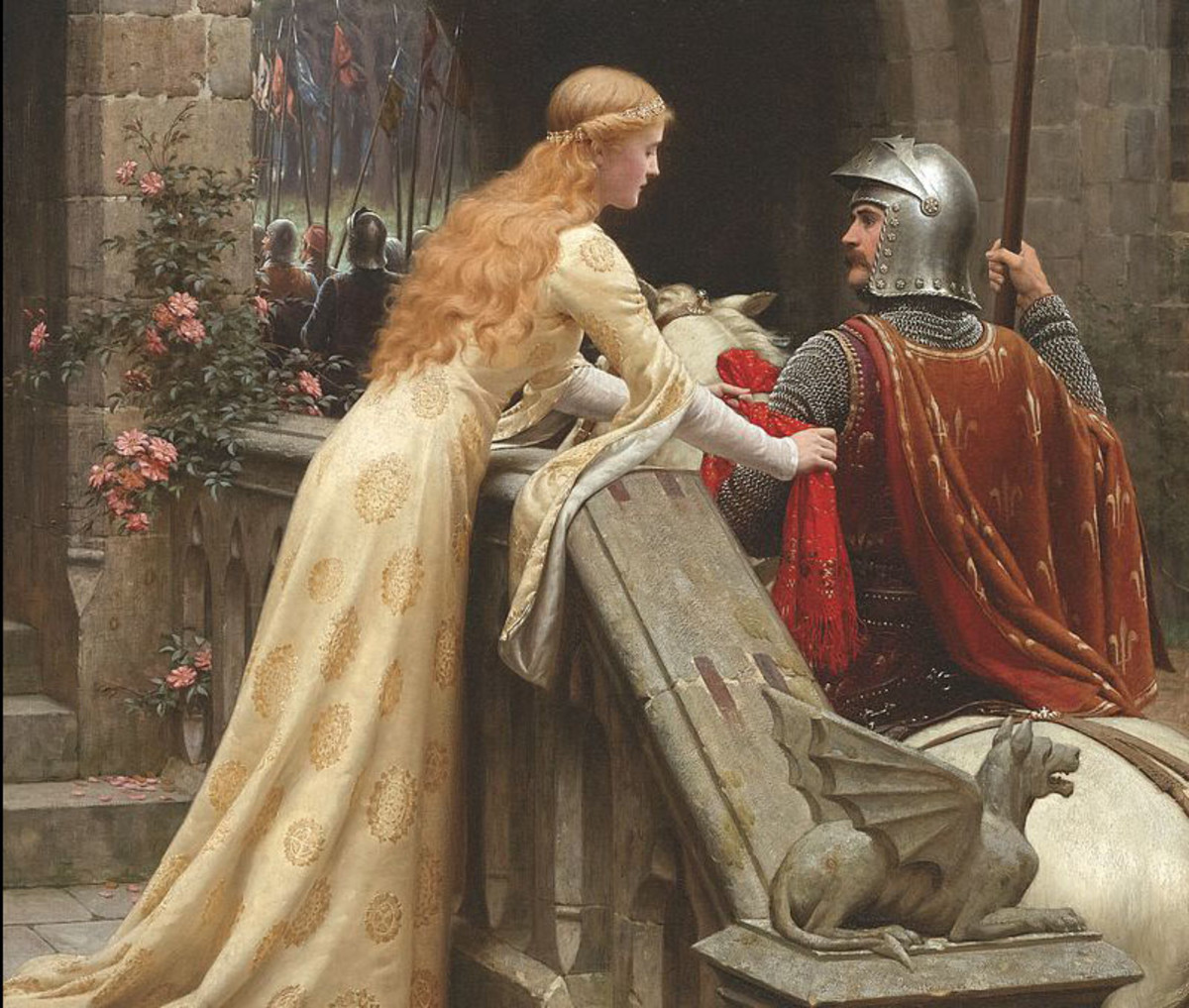 "Detail from ""God Speed!"" by Edmund Blair Leighton, 1900"