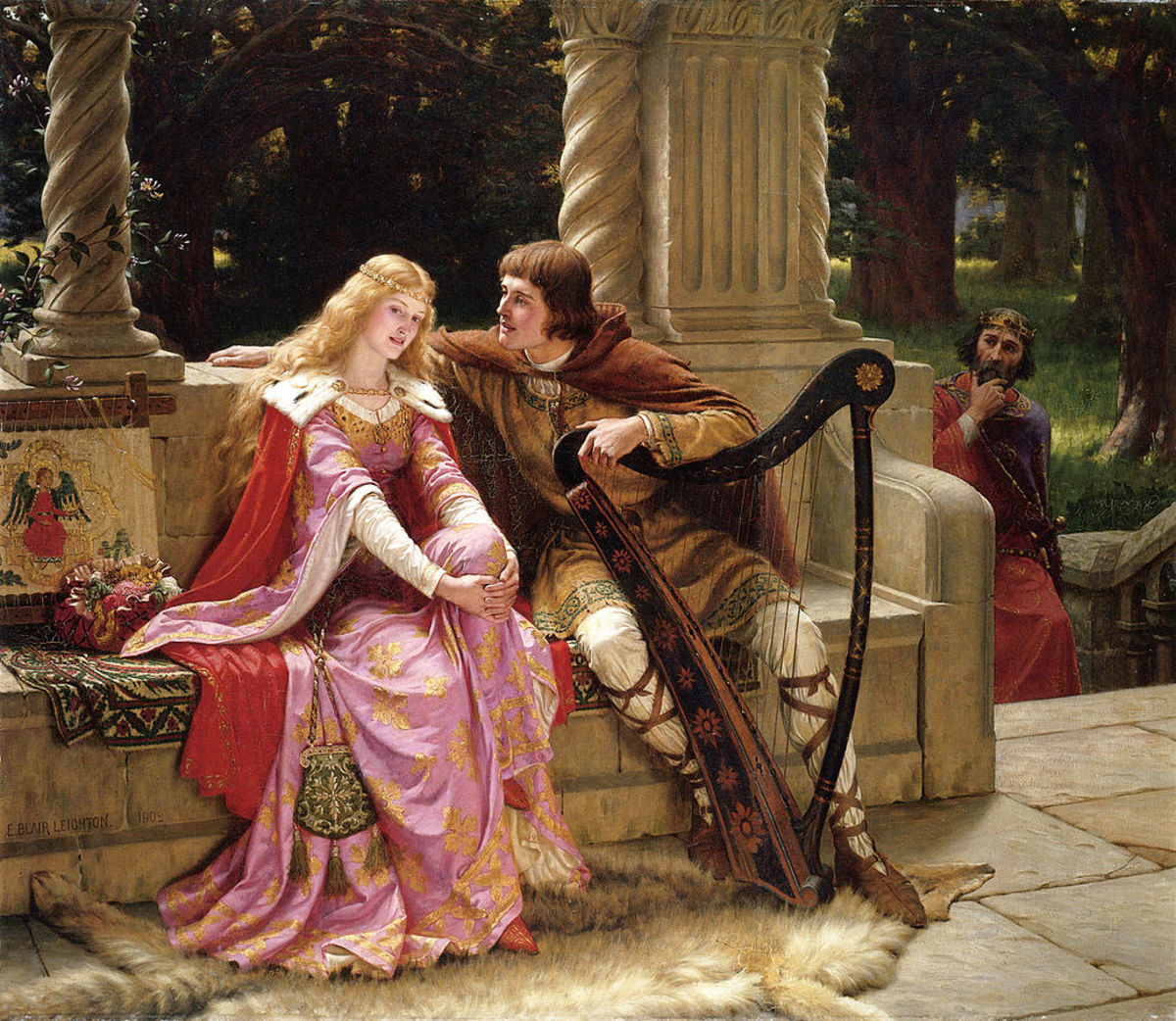 Tristan and Isolde (1902) by Edmund Leighton