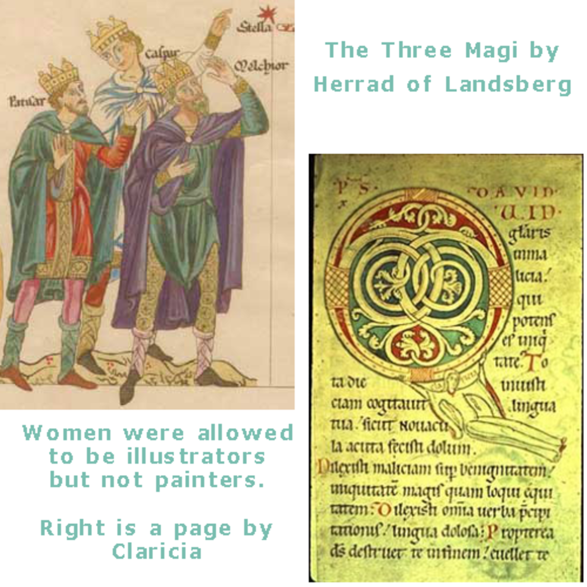 Woman as illustrators in the Medieval period.