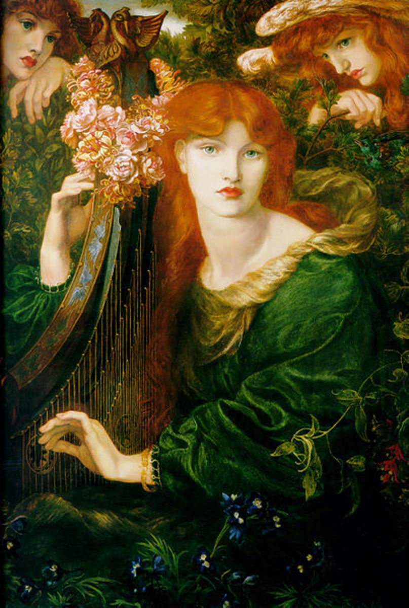 La Ghirlandata by Dante Gabriel Rossetti, 1871-74, Guildhall Art Gallery. Image courtesy of Wiki Commons