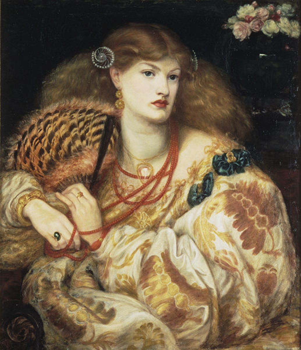 The Monna Vanna by Dante Gabriel Rossetti, 1866. Tate Gallery, London. Image courtesy of Wiki Commons.