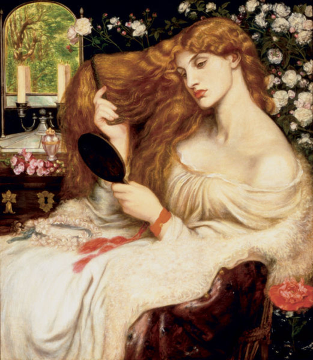 Lady Lilith by Dante Gabriel Rossetti, 1866-68. Delaware Art Museum, coutesy Wiki Commons