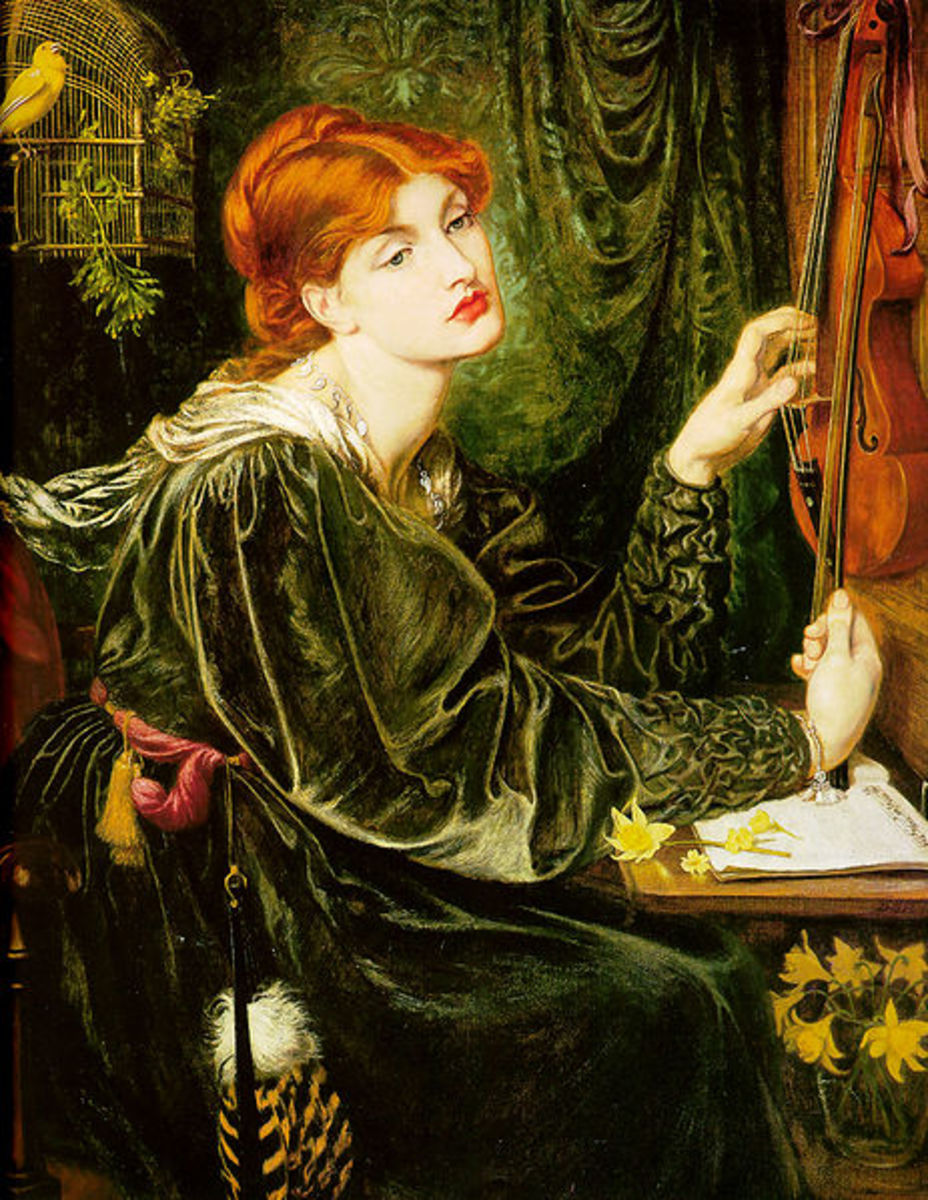 Veronica Veronese by Dante Gabriel Rossetti, 1872. Now the property of the Bancroft Collection, Wilmington Society of Fine Arts, Delaware, USA. Image courtesy of Wiki Commons.