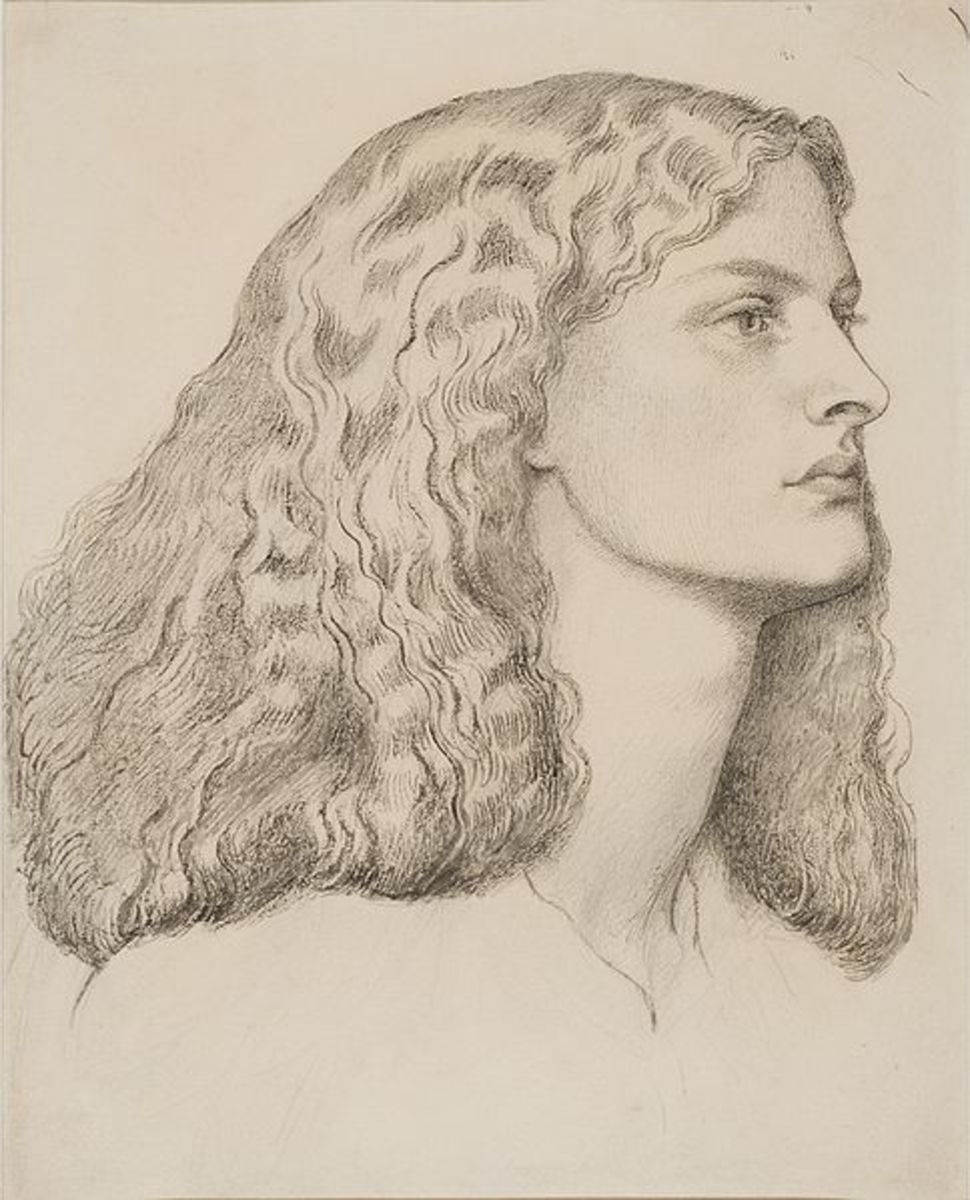 Annie Miller by Dante Gabriel Rossetti, 1860. Courtesy of Wiki Commons